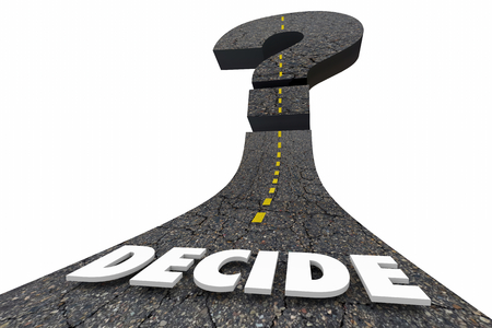 Decide Choice Options Decision Future Question Mark Road 3d Illustration