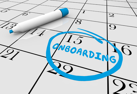 Onboarding Calendar New Job Employee Start Date 3d Illustration Stock Photo