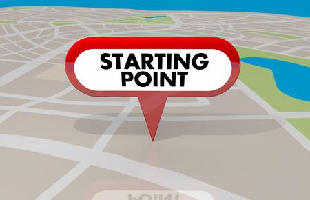 Starting Point Beginning First Stop Spot Map Pin 3d Illustration