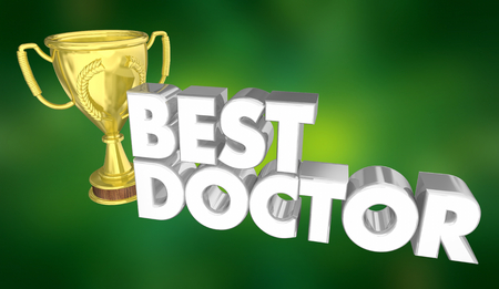 Best Doctor Top Physician Medical Health Care 3d Illustration Standard-Bild - 105721520