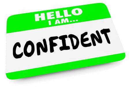 Confident Sure Certain ConfidenceName Tag 3d Illustration