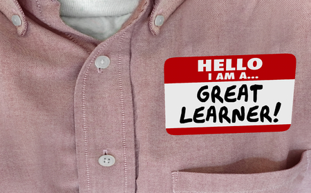 Great Learner Student Training Quick Study Name Tag 3d Illustration