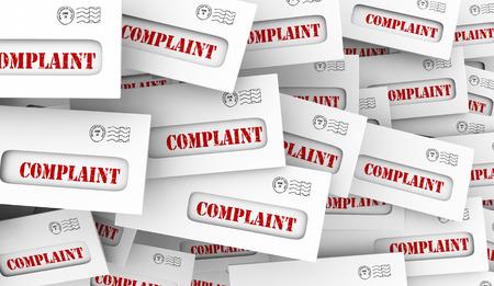 Complaint Angry Customer Feedback Envelopes 3d Illustration Stockfoto