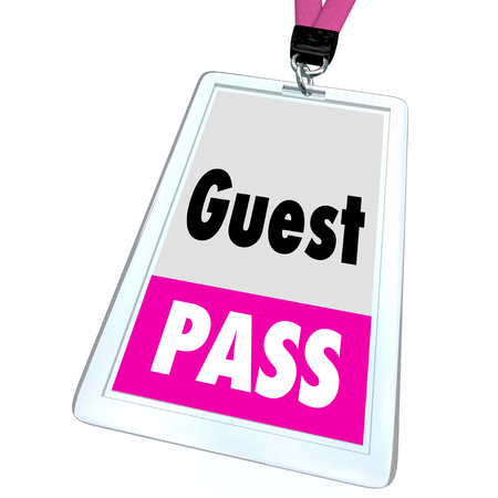 Guest Pass Ticket Special Access Badge 3d Illustration Stock Photo