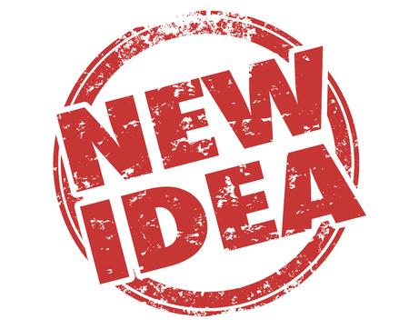 New Idea Innovation Invention Words Stamp Illustration