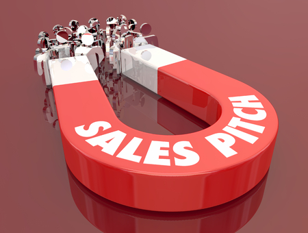 Sales Pitch Sell New Customer Magnet Pulling People 3d Illustration
