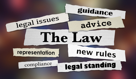 The Law Legal Headlines Advice Lawyer Attorney 3d Illustration