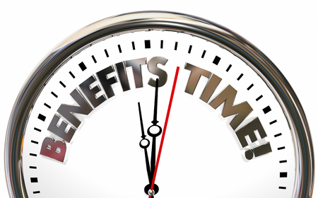 Benefits Time Choose Beneficial Features Clock 3d Illustration