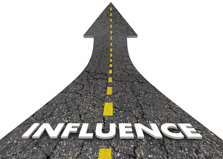 Influence Power Sway Persuasion Road Word 3d Illustration