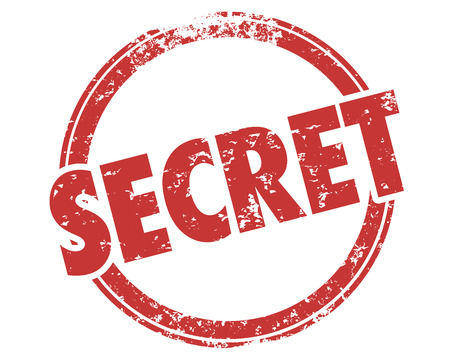 Secret Classified Confidential Private Word Stamp Illustration