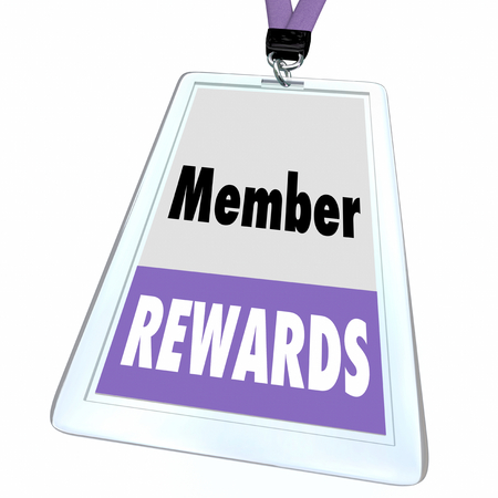 Member Rewards Benefits Special Access Join Badge 3d Illustration Stock fotó