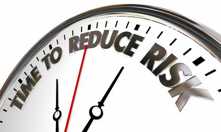 Time to Reduce Lisk Liability Mitigation Clock 3d Illustration Stock fotó