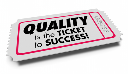 Quality Value Good Characteristics Ticket Success 3d Illustration Фото со стока