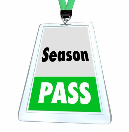 Season Pass Full Admission Ticket Badge 3d Illustration Archivio Fotografico - 106731421
