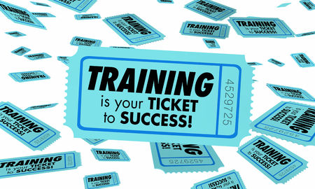Training Skills Learning Education Ticket Success 3d Illustration