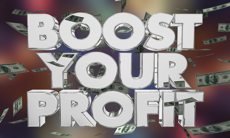 Boost Your Profit Make More Money Earnings 3d Illustration