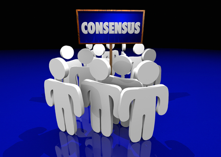Consensus Agreement People Sign 3d Illustration