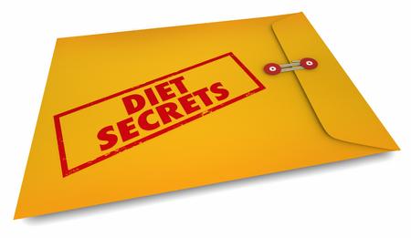 Diet Secrets Lose Weight Eat Less Calories 3d Illustration Stock Photo
