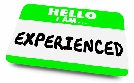 Experienced Expert Knowledge Skill Name Tag 3d Illustration