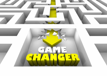 Game Changer New Breaking Rules Walls Maze 3d Illustration Stock Photo
