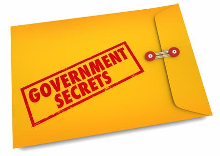 Government Secrets Envelope Classified Confidential 3d Illustration