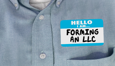 Hello I Am Forming an LLC Limited Liability Corporation Name Tag 3d Illustration
