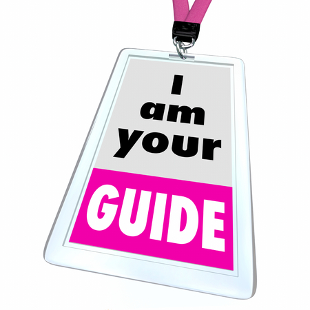 Im Your Guide Director Helper Support Person Badge 3d Illustration Stock Photo