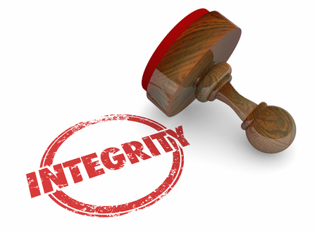 Integrity Trust Honesty Reputation Word Stamp 3d Illustration 写真素材