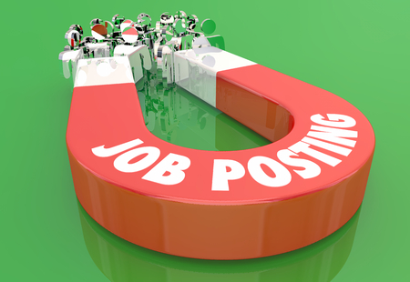 Job Posting New Work Position Candidates Magnet Pulling People 3d Illustration.jpg