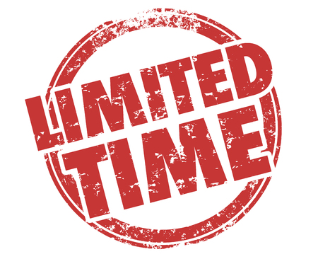 Limited Time Deadline Act Now Countdown Stamp Illustration Фото со стока