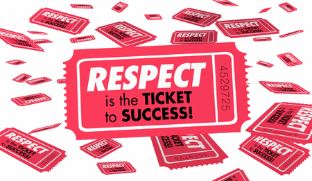 Respect Trust Reputation Ticket Success 3d Illustration