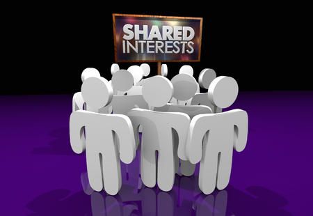 Shared Interests Common Goals Sign People Gathered 3d Illustration