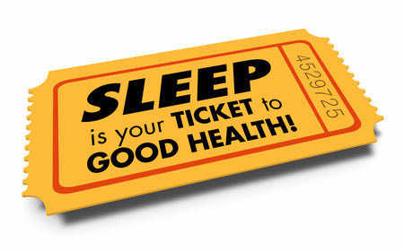 Sleep Rest Rejuvenate Relax Ticket to Good Health 3d Illustration