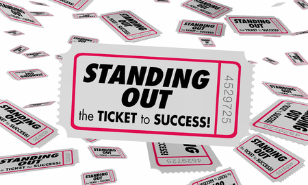 Standing Out Be Unique Ticket Success 3d Illustration Stock Photo