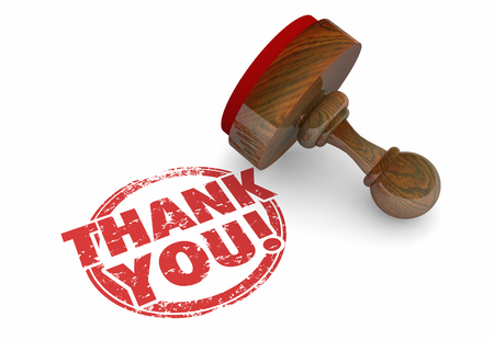 Thank You Appreciation Recognition Gratitude Stamp 3d Animation