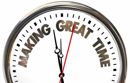 Making Great Time Progress Speed Clock 3d Illustration Stock fotó