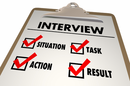 Interview Star Format Situation Task Action Result Checklist Clipboard 3d Illustration
