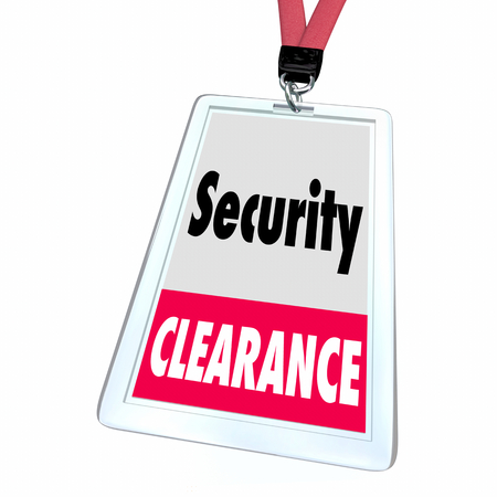 Security Clearance Vetted Secure Access Rights Badge 3d Illustration