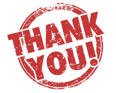 Thank You Appreciation Recognition Gratitude Stamp Illustration Stock Photo