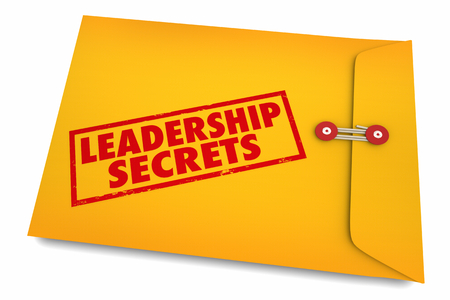 Leadership Secrets Inspire Motivate Envelope 3d Illustration Stok Fotoğraf