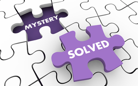 Mystery Solved Clues Invesitgate Solving Puzzle 3d Illustration Stock Photo
