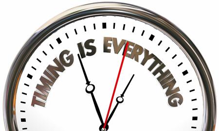 Il tempismo è tutto l'illustrazione 3d dell'orologio di tempo di velocità