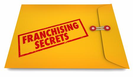 Franchising Secrets Start New Business Envelope 3d Illustration Stock Photo