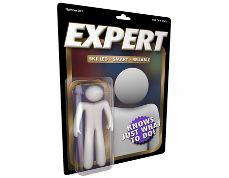 Expert Skill Knowledge Top Professional Action Figure 3d Illustration Фото со стока