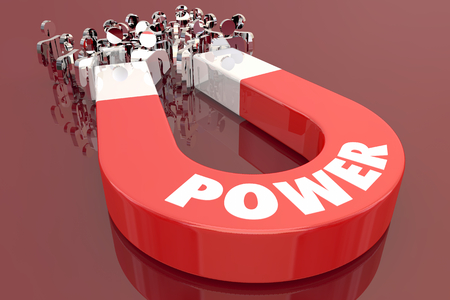 Power Influence Sway Magnet Pulling People 3d Illustration