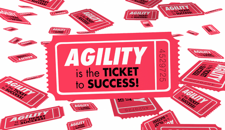 Agility Quick Speed Response Flexibility Ticket 3d Illustration Banco de Imagens - 106951980