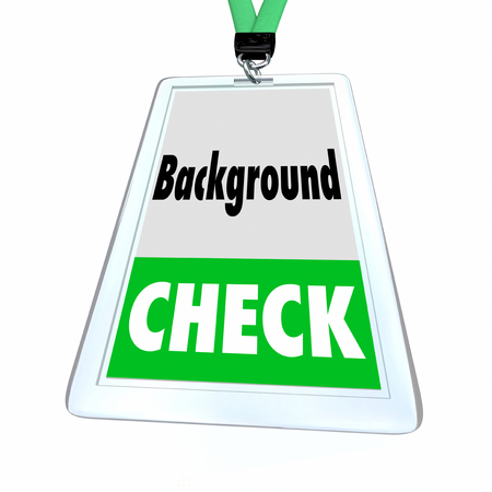 Background Check Vetting Security Approval Badge 3d Illustration Stock Photo