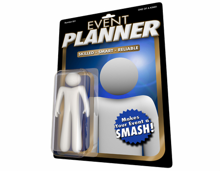 Event Planner Professional Planning Service Action Figure 3d Illustration