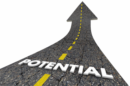 Potential Reach Full Possibile Opportunity Road Word 3d Illustration