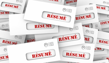 Resume Many Job Applicants Envelope Pile 3d Illustration